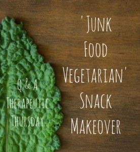 Q & A Therapeutic Thursday: 'Junk Food Vegetarian' Snack Makeover