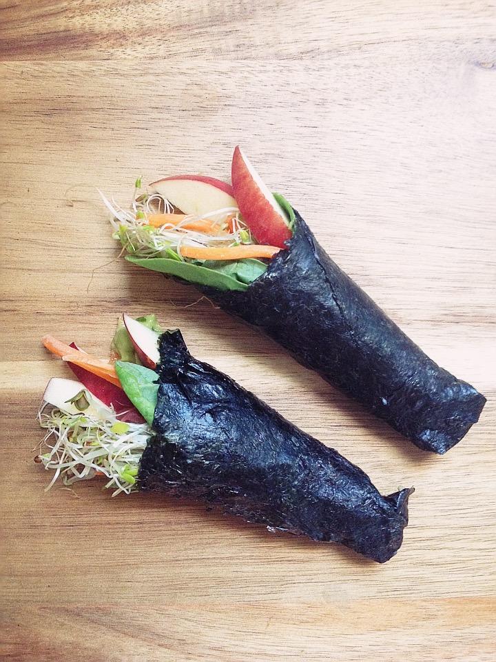 Toasted Nori Veggie Hand Rolls